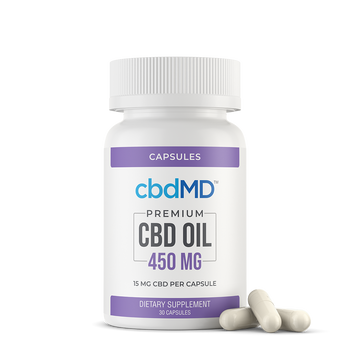 cbdMD CBD Capsules 450mg - 3,000mg cbdMD's CBD oil capsules offer a quick and effective approach to adding CBD to your daily routine. With an easy-to-swallow capsule, you can rest assured that you're getting an accurate measurement every time.