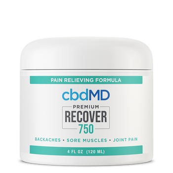cbdMD CBD Recover Formula 300mg - 3,000mg Recover is a CBD cream for pain that includes histamine dihydrochloride, along with arnica, MSM, and vitamin B6. Histamine dihydrochloride, similar to menthol, can provide temporary relief from aches and pains by providing a warming sensation to areas of discomfort. It's richly moisturizing with a bundle of essential oils and might be preferable to a gel for dry skin.