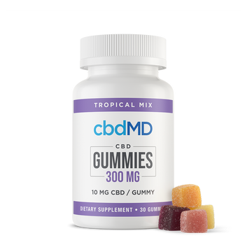 cbdMD CBD Gummies 300mg - 1,500mg Sweet support for those looking to take CBD the easy way. Our CBD gummies are made with quality ingredients for superior flavor and texture, along with CBD from hemp plants grown right here in the United States. By manufacturing and preserving the properties of CBD, we can maintain an exact concentration of CBD oil in every piece.