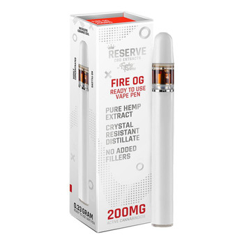 Funky Farms Fire OG CBD Vape Pen (200mg) Fire OG profile is a combination of hemp notes and aromas – it's earthy and piney with pungent notes of lemon and citrus. Fire OG starts out uplifting - making you feel fired-up to take on the day and then eases into a calm serene feeling which leaves you relaxed and at ease. Fire OG is full of fresh citrus fruits and an earthy wholeness which makes it as relaxing for the senses as a day spent soaking up the sunshine.