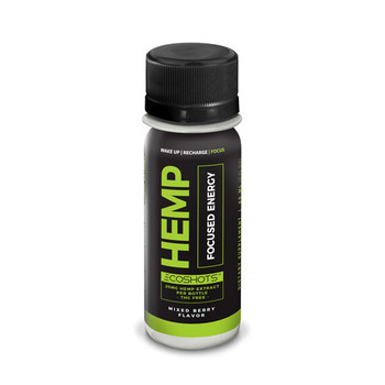 ECOShot Power Hemp Energy is a hemp extract energy shot that delivers the get up and go energy you need to start your morning or get you over that midday hump. Gives you energy and focus you need without that jittery feeling. This drink contains 25MG+ of Full Spectrum CBD-Rich whole plant cannabinoid products.