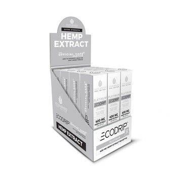 Ecosciences known as CBD Drip before brings Platinum Is the extra strength liquid of The Official Vape Additive line. CBD Drip Platinum has 4 times the strength of our Gold CBD Oil. Every bottle of Platinum has a minimum of 58mg of all natural, non-synthetic and organic CBD sourced from the highest quality European industrial hemp.