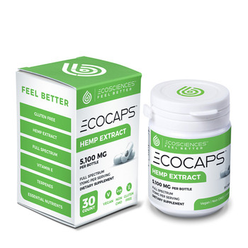 CBD Drip ECOCaps Bottle | 30 pills with a Total of 900mg of CBD | CBD Drip