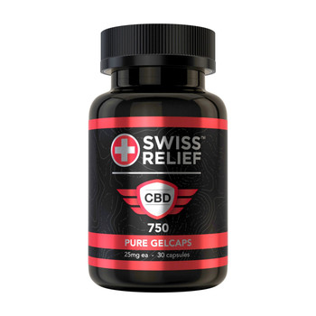 Swiss Relief CBD Gel Capsules are straightforward, easy-to-take pills for convenient consumption that you can take with you wherever you go.