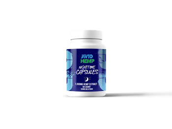 Avid Hemp's 1,000mg CBD Nighttime Capsules provide a full spectrum profile of all cannabinoids and terpenes naturally found within the highest grade, SUPERIOR CBD.
