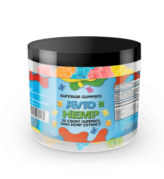 Avid Hemp CBD Gummy Bears 500mg 30ct  provide a delicious and convenient way to supplement your diet with cannabidiol. Portable CBD gummies are individually dosed in precise milligrams and offer an excellent way to take consistent amounts of CBD. Gummies are also a tasty alternative for folks who aren't fond of the flavor of CBD oils. All of our products are tested by a third-party lab and contain less than .03% delta 9 THC.