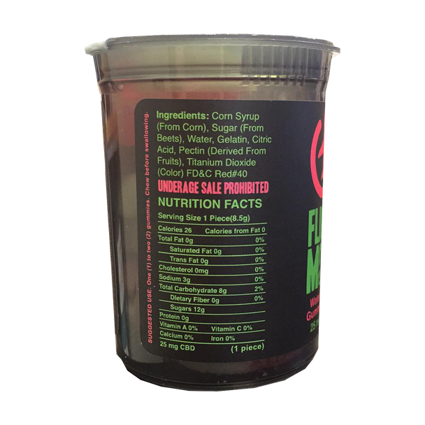 Flight Mode CBD 8 Count Gummy Rings is 200MG Total CBD with 25MG of CBD infused into each gummy you will feel our specially formulated CBD terpenes go to work to relieve you of your everyday stresses - cbdresellers.com