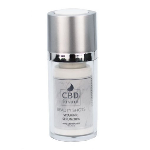 CBD Fusion Vitamin C is a powerful and effective treatment for dullness, hyperpigmentation, dehydration, and exfoliation, this uniquely formulated serum targets a multitude of skin care concerns. Gentle enough for daily use. Plant Stem Cell technology powers this product to rebuild elasticity, retain hydration, and promote healthy collagen production. Reveal smoother, more vibrant skin with each use. This uniquely formulated serum targets a multitude of skin care concerns.