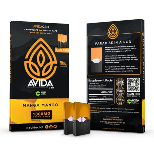 Made with our very own AVIDA Core CBD Isolate and our proprietary blend of sweet Honey Mangos coupled with Alfonso Mangos blended to perfection by our award-winning flavorist. A home run in our book!  Experience this masterpiece today.