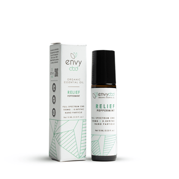 Soothe away discomfort on a cool note with the Envy CBD Relief Essential Oil Roller. Formulated with peppermint essential oil and 100mg of Full Spectrum CBD, the sharp, cool bite wakes up those senses to provide a long-lasting experience of relief.