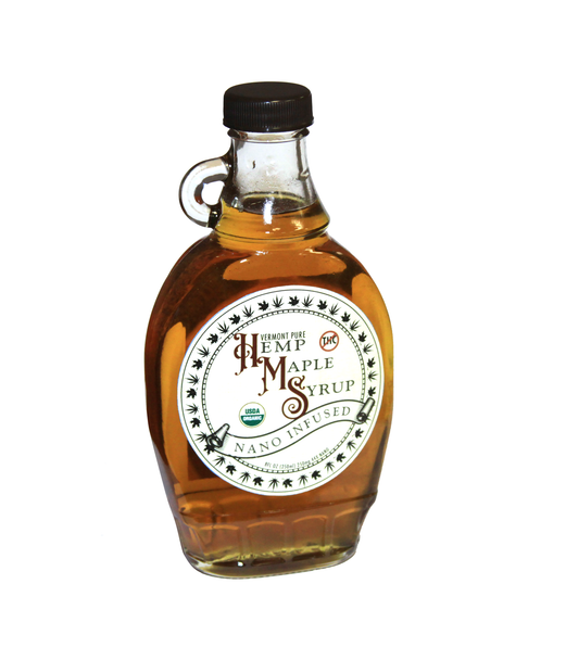 100% Pure Vermont Hemp-Infused Maple Syrup | Water Soluble 44X (Nano CBD). Highest quality NANO cbd on the market. Nano-emulsified CBD rapidly absorbs up to 80-90% of every dose into the bloodstream compared to only about 35% with other products in the market.