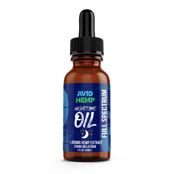 Avid Hemp's 1,000mg Nighttime CBD Oil with Mint and Melatonin is perfect for someone who needs their relief, and has trouble sleeping. It is the premium choice for someone looking to receive the immense variety of health benefits that CBD oil offers.