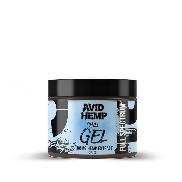 Avid Hemp CBD Chill Gel 100mg Used topically for pain, just rub it on the area that is affected. It can be applied to body parts such as the foot, ankle, knee, hand, wrist, elbow, hip, back, neck and shoulders. Great for athletes and those on the go