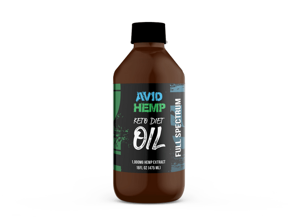 Avid Hemp CBD Keto Diet Oil 1,000mg is the perfect aid to your healthy lifestyle whether you fully practice the Keto Diet or not! Made with only two simple ingredients (MCT coconut oil, and full spectrum hemp extract) Avid Hemp's 1,000mg Keto Diet Oil helps to encourage the fat burning effects of the Keto Diet.