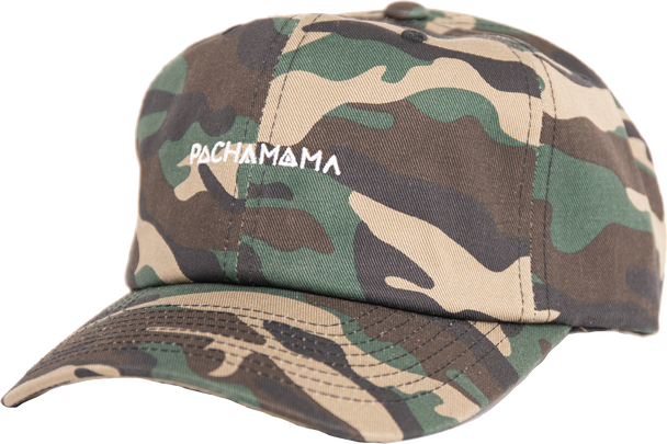 Pachamama The Camo Hat Fan-favorite camo print with a sewn-in white Pachamama logo.