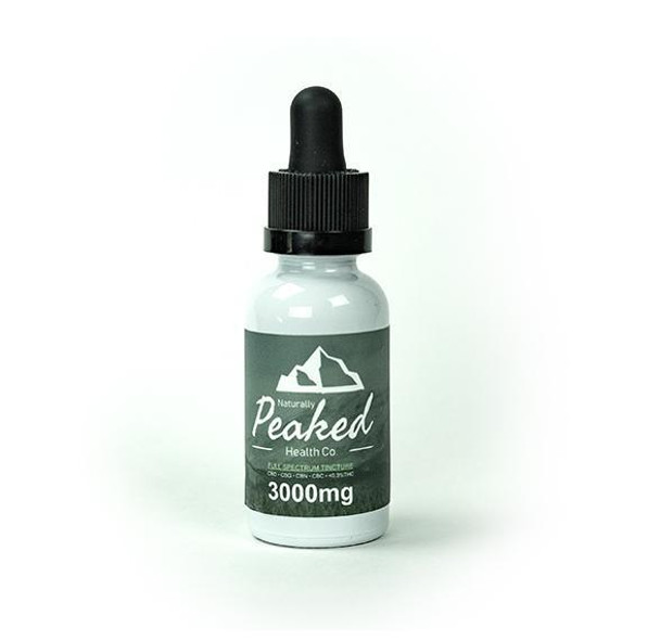 Naturally Peaked Health Co 3000mg CBD Full-Spectrum TinctureLike all of our products, we pride ourselves on the quality and value of our all-natural full-spectrum tinctures - they are truly second to none. Ideal for anyone seeking to achieve reliable and repeatable results at an unbeatable price.As a base, we use a raw hemp extract which is sourced domestically in Colorado (from organic-certified hemp farms) we have created a potent, effective productintended for those who seek to eliminate pain, reduce anxiety, and simply relax.