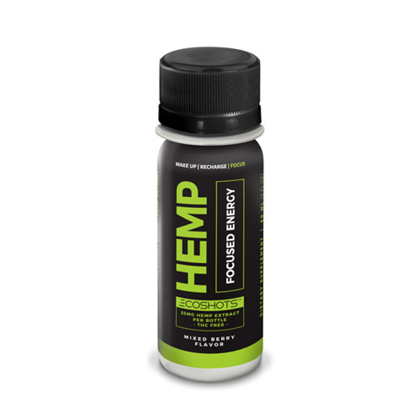 ECOShot Power Hemp Energy is a hemp extract energy shot that delivers the get up and go energy you need to start your morning or get you over that midday hump. Gives you energy and focus you need without that jittery feeling. Thisdrink contains 25MG+ of Full Spectrum CBD-Rich whole plant cannabinoid products.
