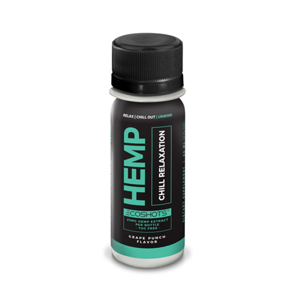 Ecosciences known as CBD Drip before brings  Ecoshots Chill Relaxationis a hemp extract that is designed to help you relax and wind down. Thisdrink contains 25MG+ of Full Spectrum CBD-Rich whole plant cannabinoid products.