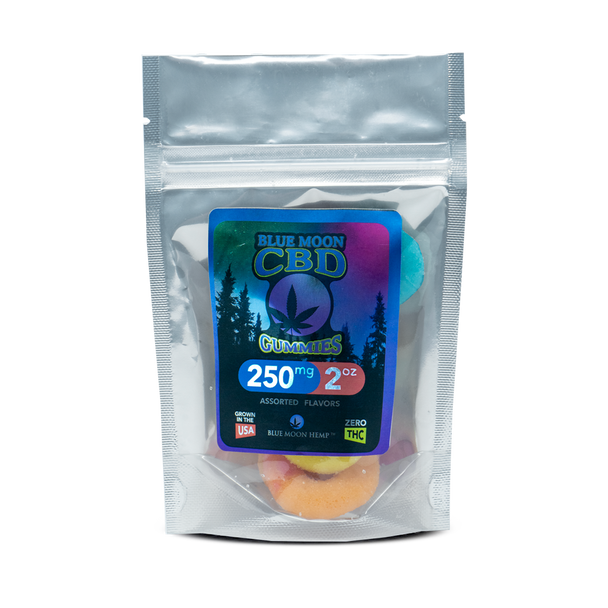 Blue Moon Hemp CBD gummies are a convenient and delicious way to get your daily serving of CBD. The Sweet-n-Sour blend of our assorted sizes and shapes makes each mouthful a delightful burst of flavor, fun and goodness. The secret behind the great taste is the infusion of CBD into the gummy instead of coating the gummy with CBD.