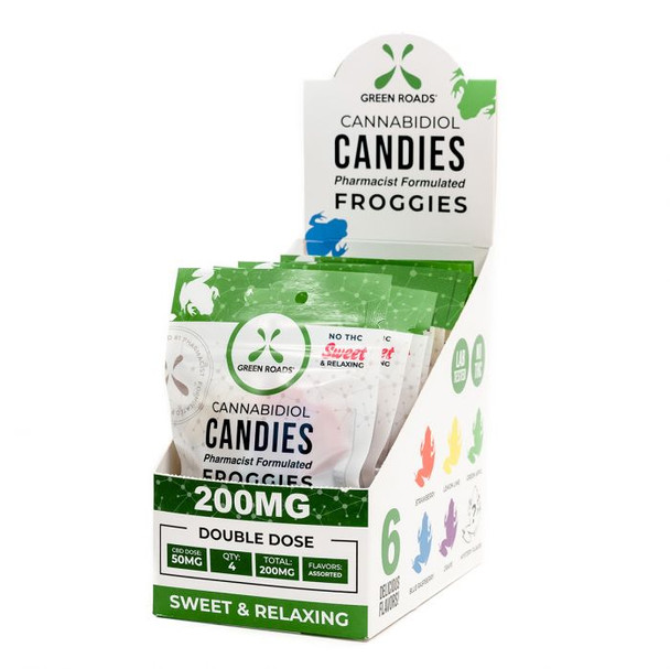 The 200 mg CBD Froggies are a step above the average CBD edible. Packed with all natural ingredients and a 50 mg CBD dosage, these will leave you with a pep in your step. Like all Green Roads products, Froggies are pharmacist-formulated, supercritical CO2-extracted, and triple lab-tested to ensure what's on the label is what's in the package.