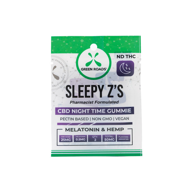 Green Roads Sleepy Zs are the premier melatonin-infused gummie snacks, designed to promote endocannabinoid system and your natural circadian rhythms to deliver a healthy, happy, restful night's sleep.