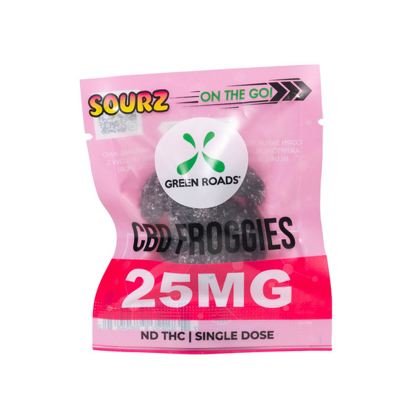 The CBD Froggies Sourz are a fun twist on a Green Roads classic. With a savory kick, On The Go! Froggies SOURZ keep things interesting and relaxing
