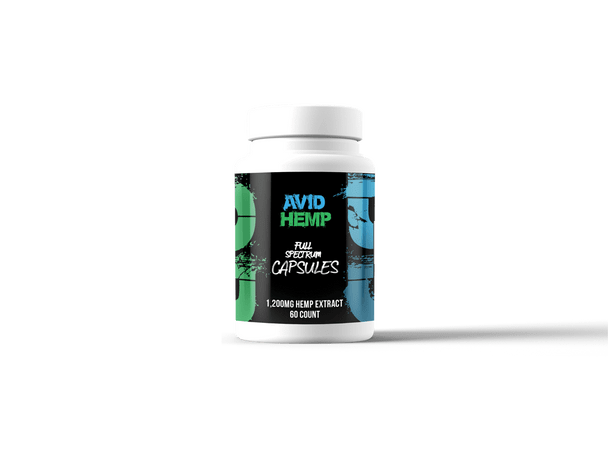 Avid Hemp 1,200mg CBD Capsules are decarboxylated in-house, turning the CBDA to CBD. This allows our bodies to absorb the maximum amount of CBD, as well as using it the most efficiently. This provides you with all the care in the world, exclusively through our specially engineered CBD Capsule