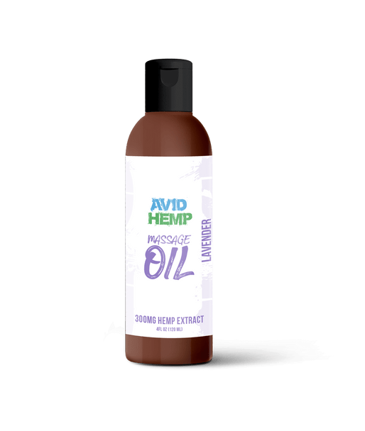 vid Hemp's 300mg Lavender Massage Oil provides the ultimate massage experience! Consciously formulated with the intent of merging the potential pain relieving and relaxation benefits of both CBD and Lavender, Avid Hemp's 300mg Lavender Massage Oil allows both of these amazing botanical extracts to work in synergy with one another.