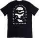 Pachamama Mother Earth Tee -Black T-Shirt has the three sides of a triangle to represent Pachamama as the foundation that creates and joins both protectors and pioneers.