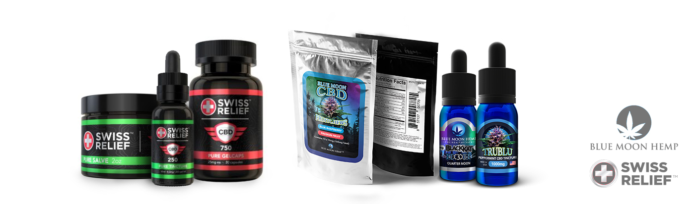 Blue Moon Hemp CBD & Swiss Relief CBD Products on CBDResellers.com