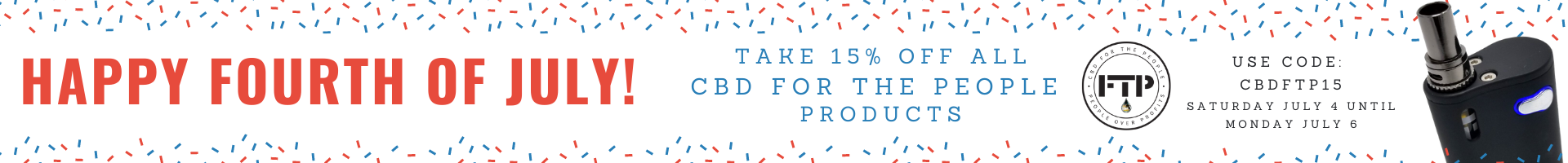 CBD For The People on CBDResellers Celebrating Independence Day with a Sale!