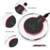 2020 Universal Qi Wireless Charger New Ultra-Thin Crystal Wireless Charging Compatible with All Qi Charging Devices