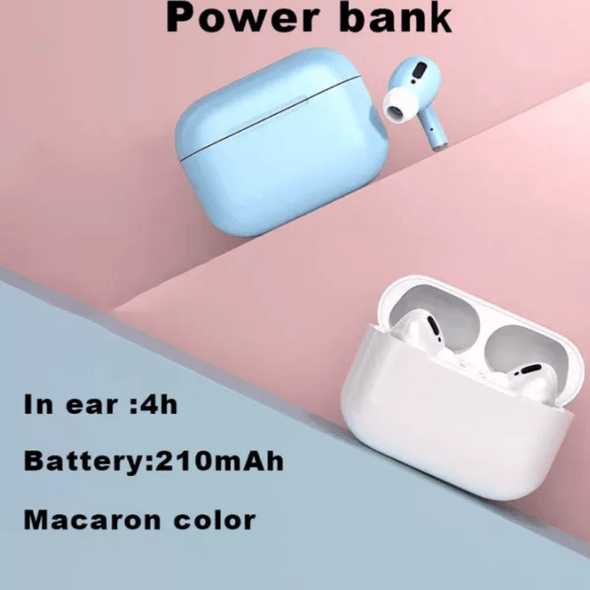 Airs i500 Pro TWS Truly Wireless Macaron Earbuds With Charging Case (Used)