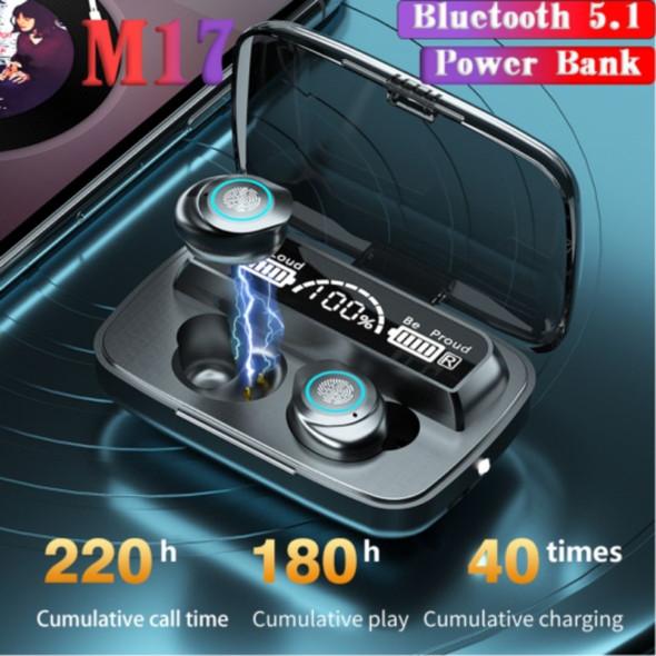 Wireless Bluetooth Earbuds M17 TWS BT 5.0 Headphones With Power bank