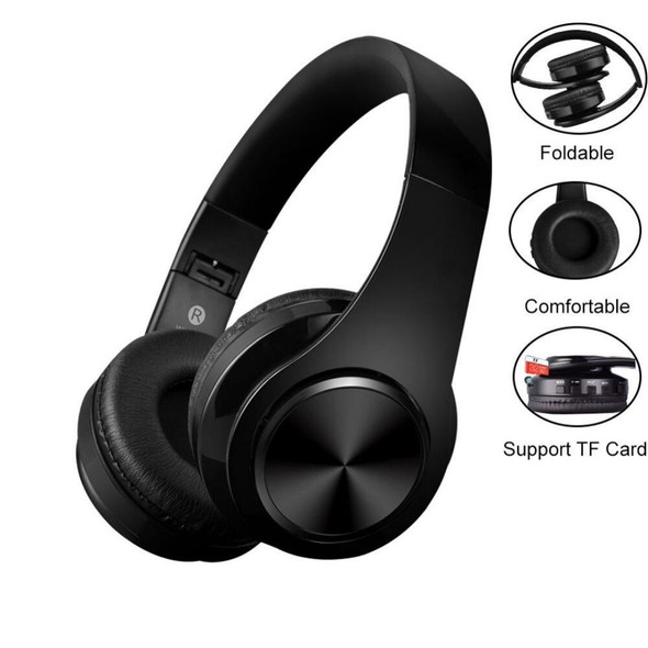 On-Ear Active Noise Cancelling Wireless Bluetooth Foldable Stereo Headphones