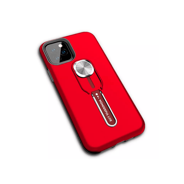 Wonderful Life Luxury Shockproof Phone Case w/ kickstand for IOS /Android - Red