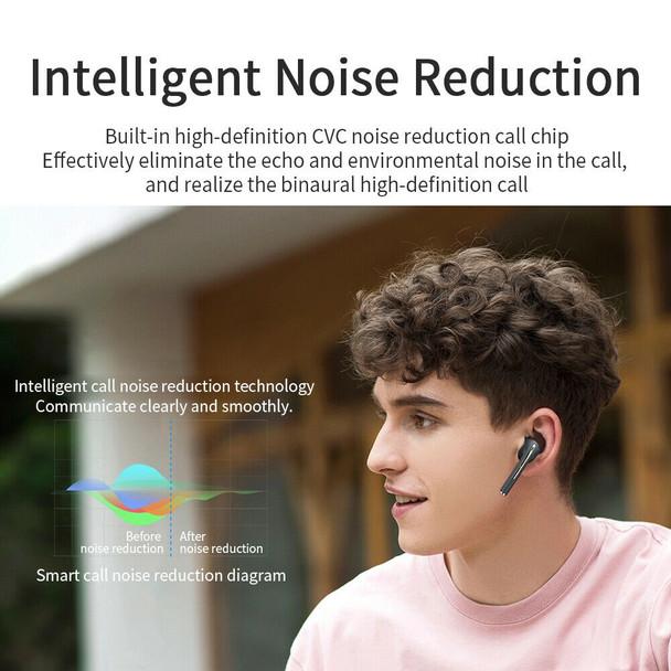 J18 True Wireless Bluetooth Headset Earbuds Stereo Digital Display Heavy Bass Sports Waterproof Earplugs with Volume Control