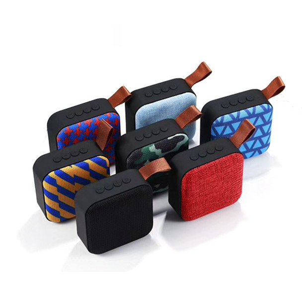 Mini Stereo Wireless Bluetooth Speaker Outdoor Portable Cloth Covered with TF Card Play Subwoofer USB FM Radio Model T5