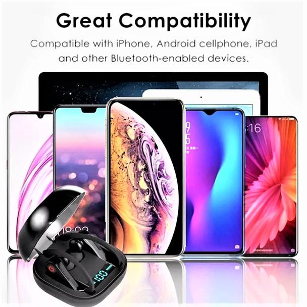 PowerHBQ Pro Totally Wireless Bluetooth Earphones Bluetooth 5.0 w/ Wireless Charging