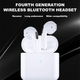 Mini Pro 4 TWS Wireless Bluetooth Earbuds Compatible with all Smart Phones