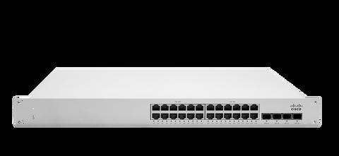 Meraki MS225-24P L2 Stackable Cloud Managed 24x GigE 370W PoE/PoE+ Switch