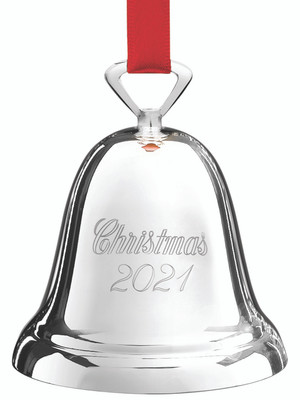 Reed and Barton 2021 Silver plated Christmas Annual Bell