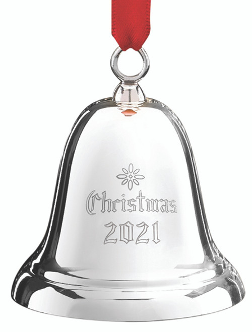 """Reed and Barton Sterling Engraved """"Christmas 2021"""" Bell"""