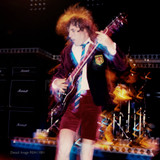 Detail: Angus Young of rock band AC/DC Photo by Richard E. Aaron