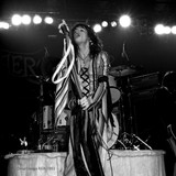 Steven Tyler performing live onstage, photo by Richard E. Aaron