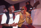 Johnny Gill and Arsenio Hall photo by Richard E Aaron