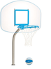 Pool Basektball Hoop - Regulation Clear Hoop - Deck Mounted