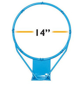 Clear Hoop Jr. Stainless 14 in - RIM900 - Pool Basketball Rims
