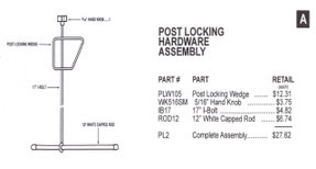 Slam - Post Locking Hardware Assembly - PL2