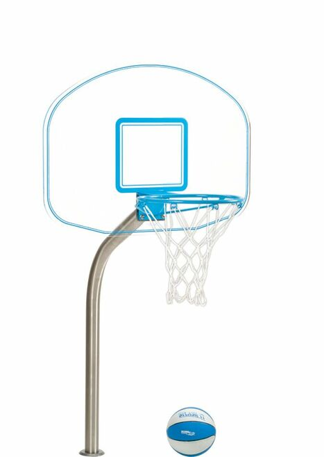 Pool Basektball Hoop - Clear Hoop Jr. - Deck Mounted